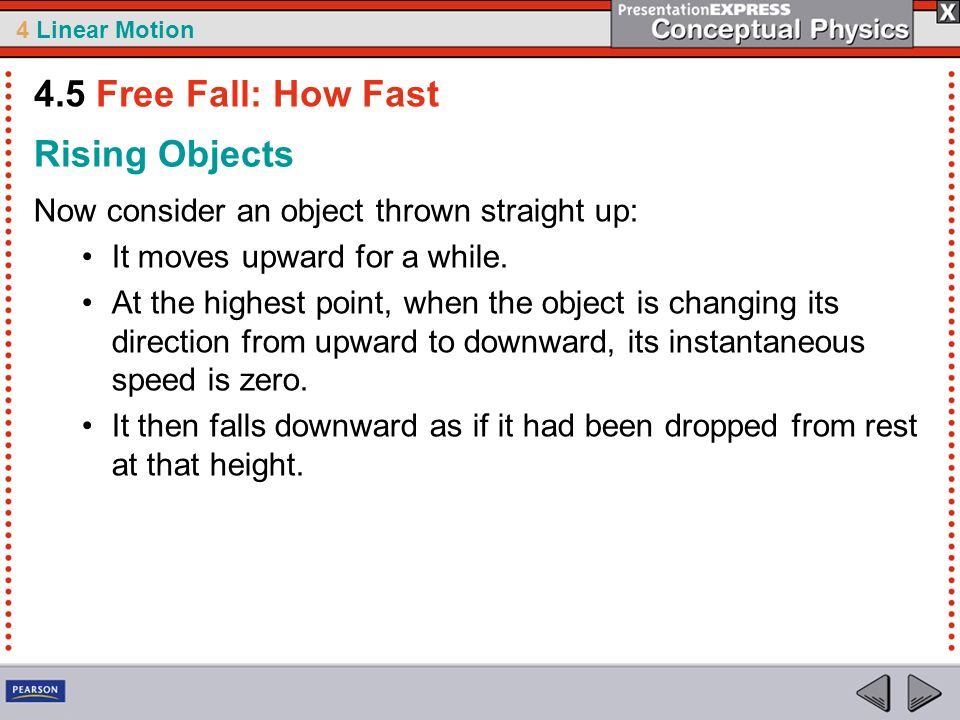4.5 Free Fall: How Fast Rising Objects