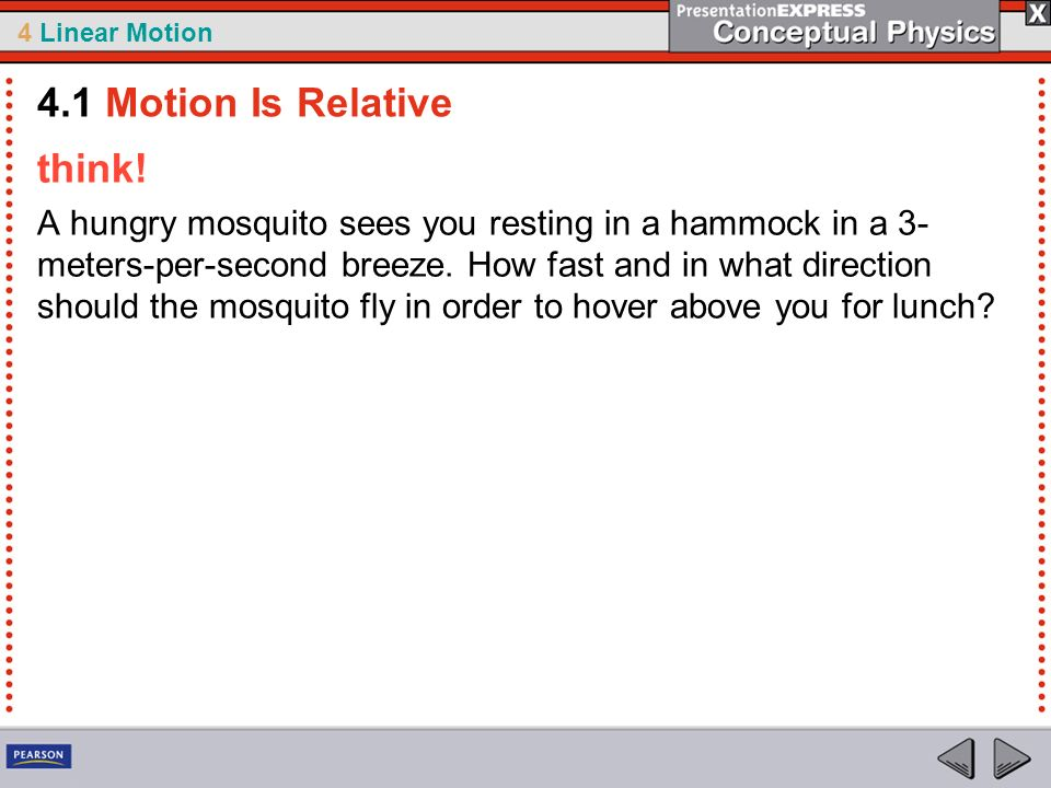 4.1 Motion Is Relative think!
