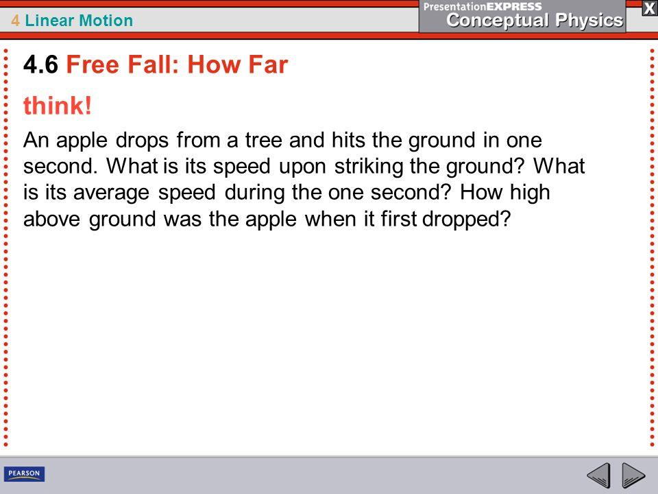4.6 Free Fall: How Far think!