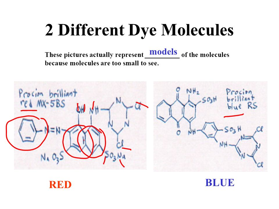 2 Different Dye Molecules