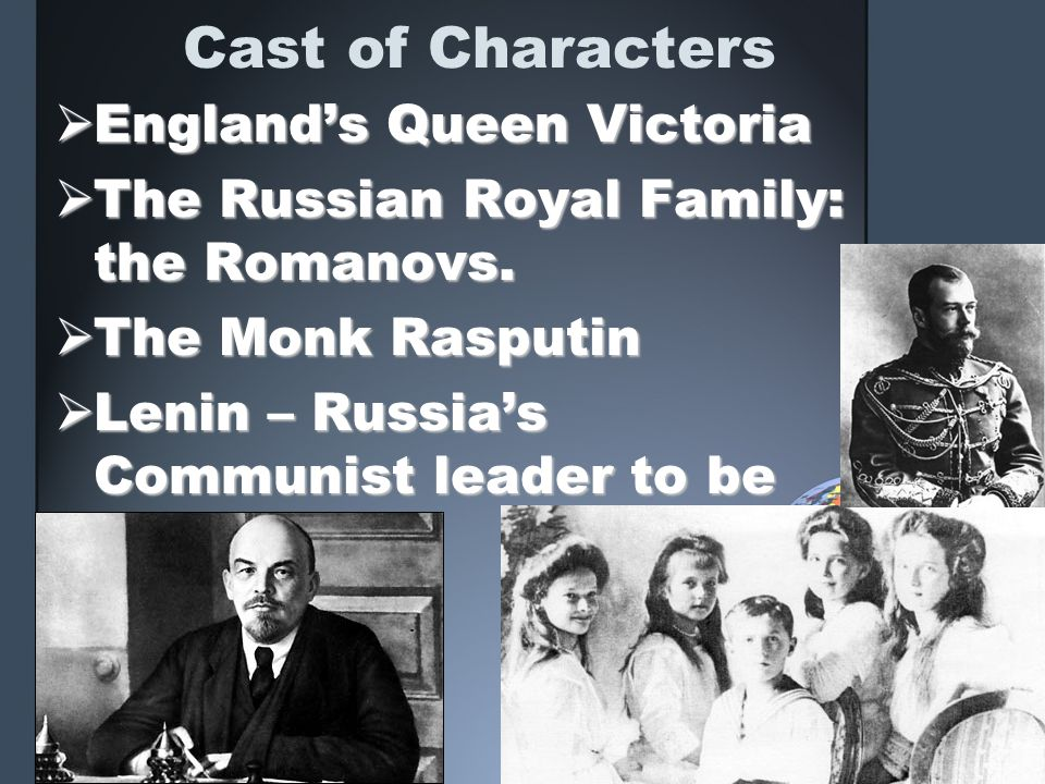 Cast of Characters England's Queen Victoria