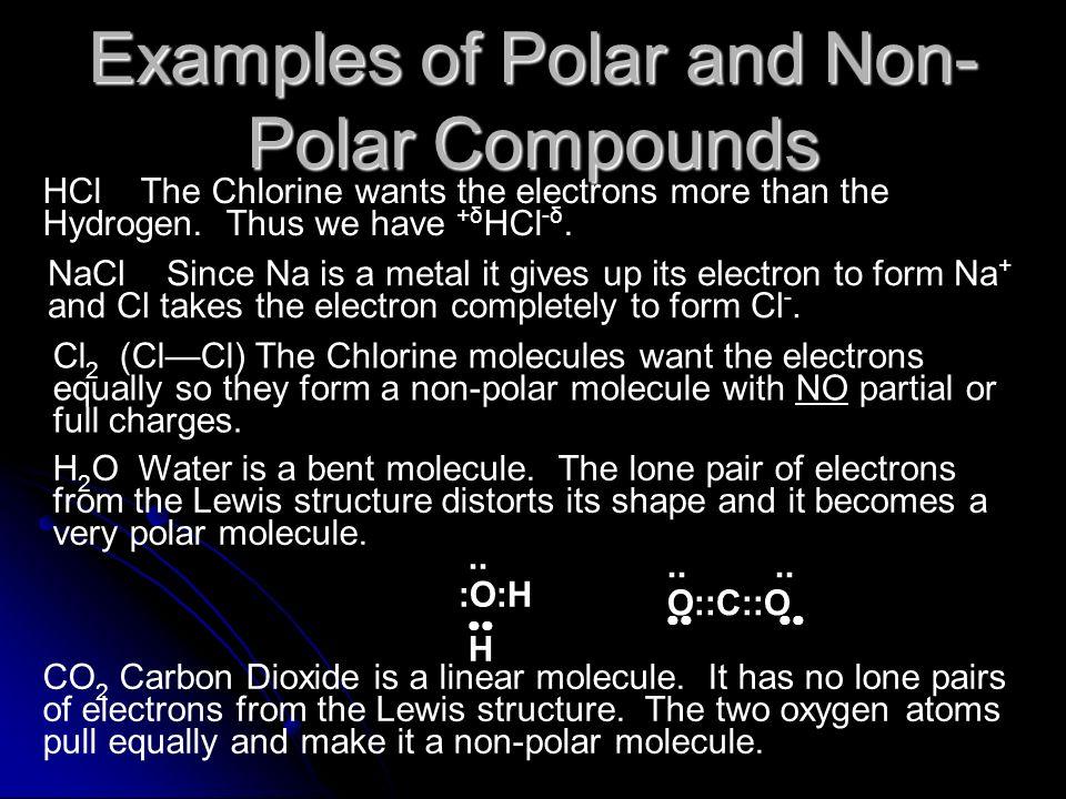 Examples of Polar and Non-Polar Compounds