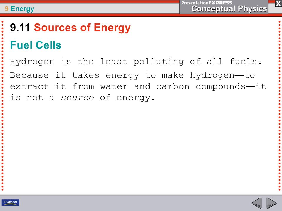9.11 Sources of Energy Fuel Cells