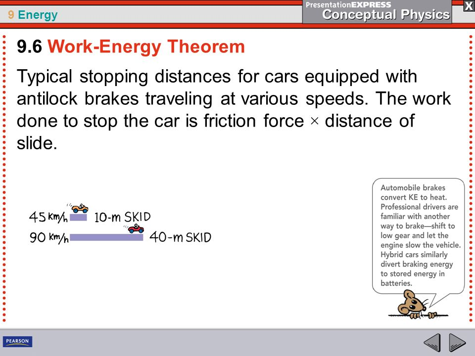 9.6 Work-Energy Theorem