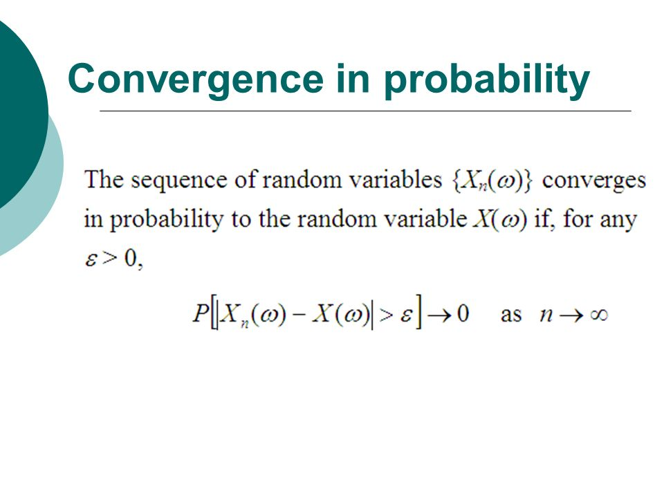 Convergence in probability