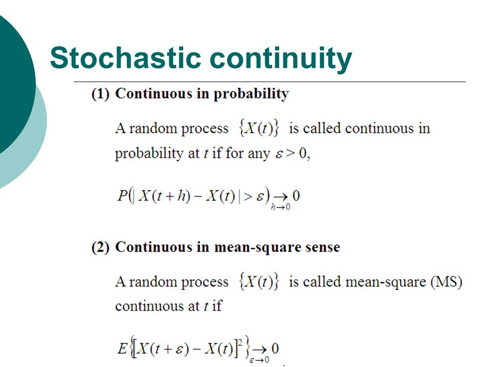 Stochastic continuity