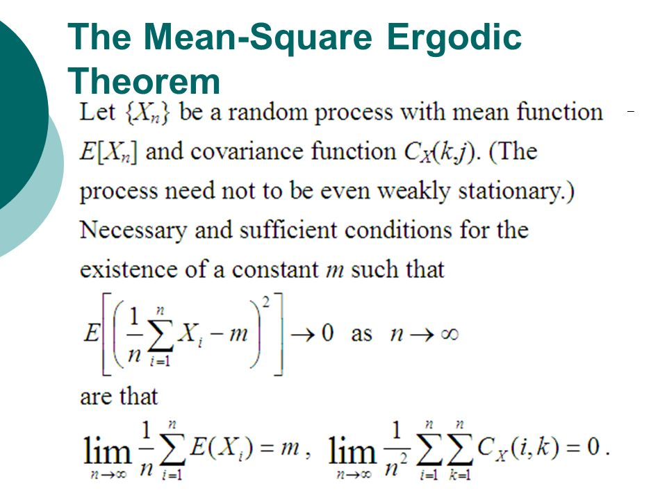 The Mean-Square Ergodic Theorem