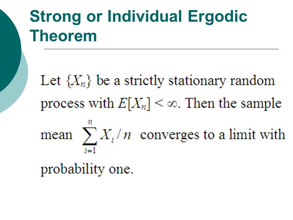 Strong or Individual Ergodic Theorem