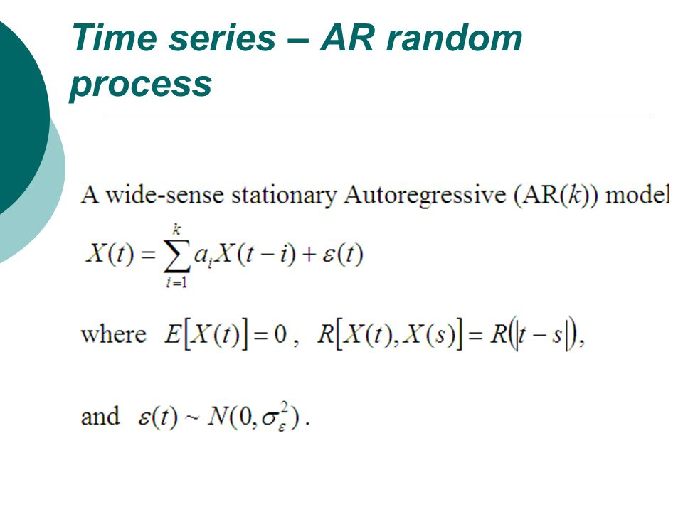 Time series – AR random process