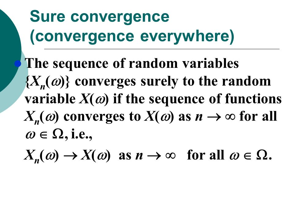 Sure convergence (convergence everywhere)