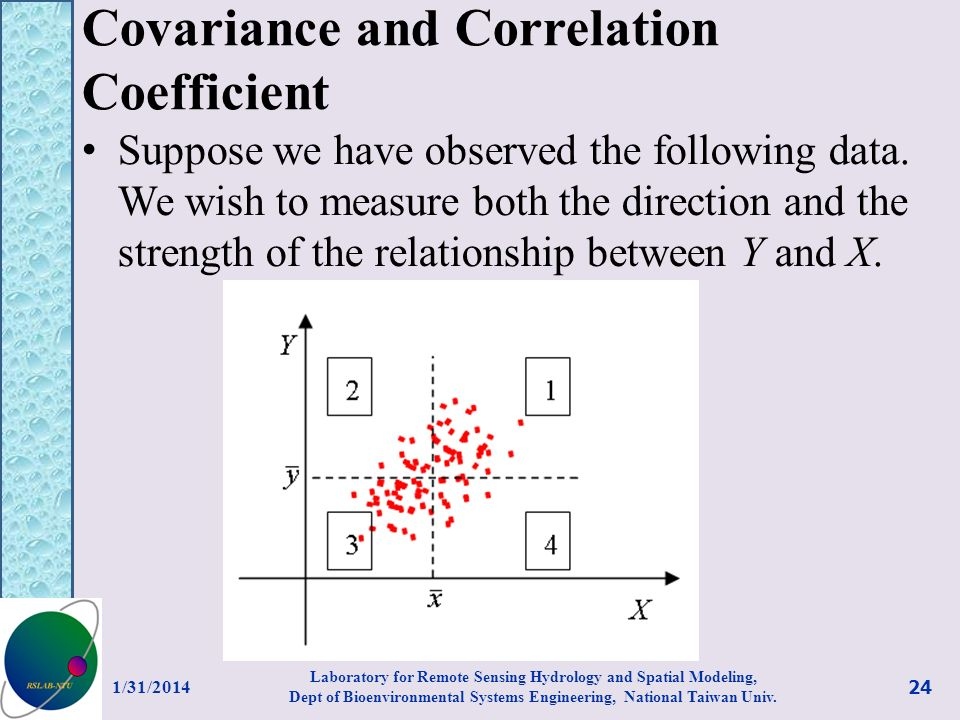 Covariance and Correlation Coefficient