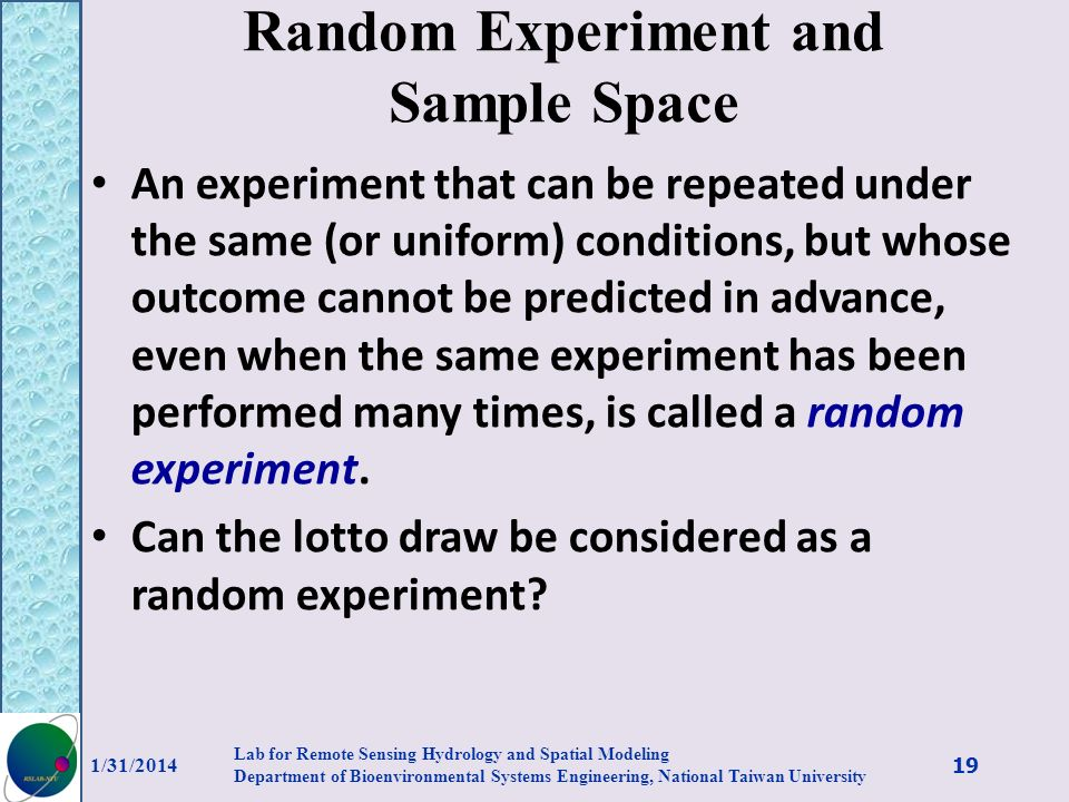 Random Experiment and Sample Space