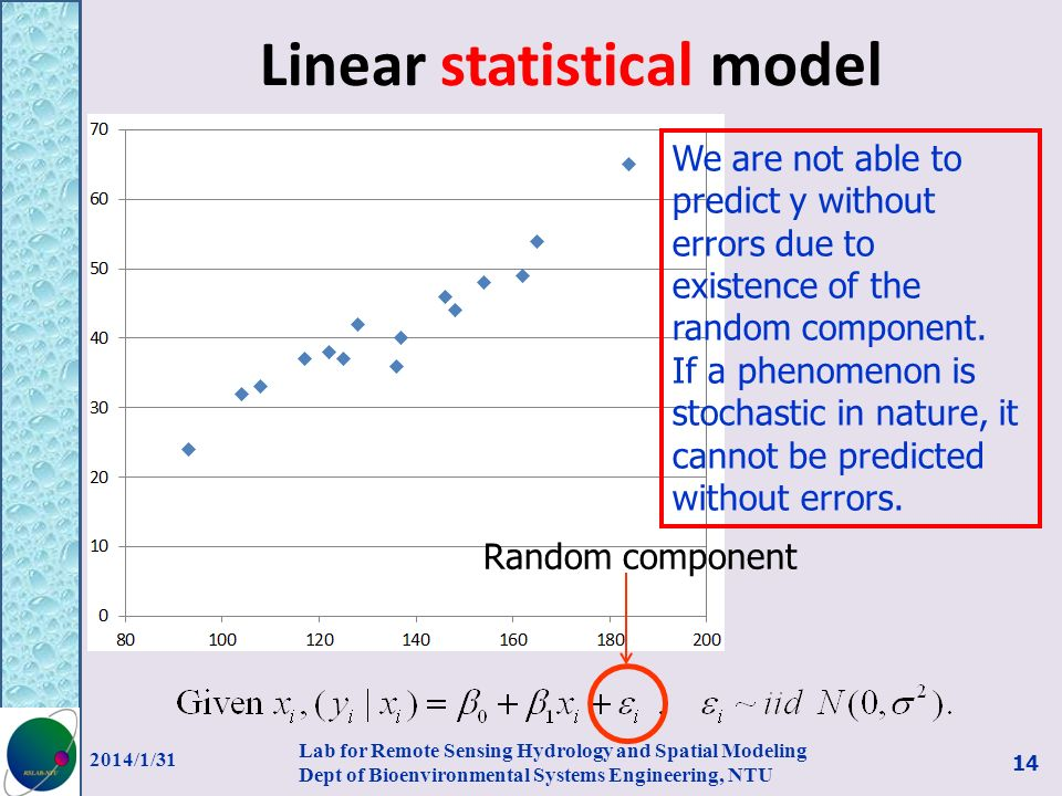 Linear statistical model