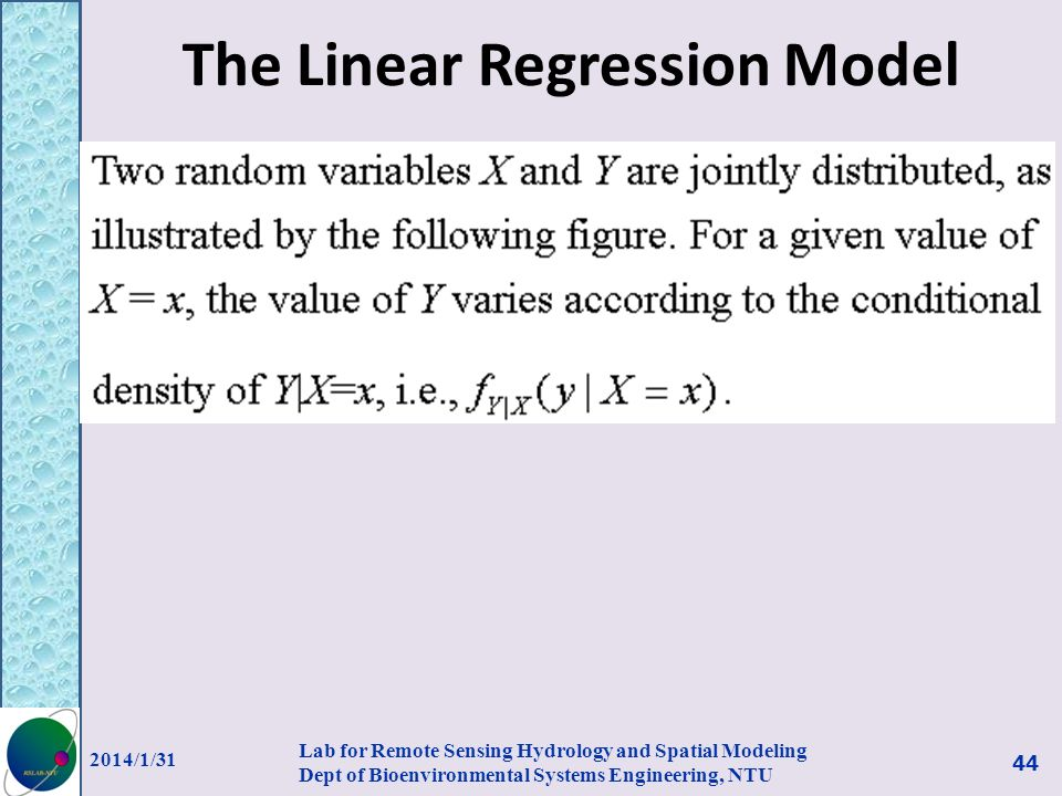 The Linear Regression Model
