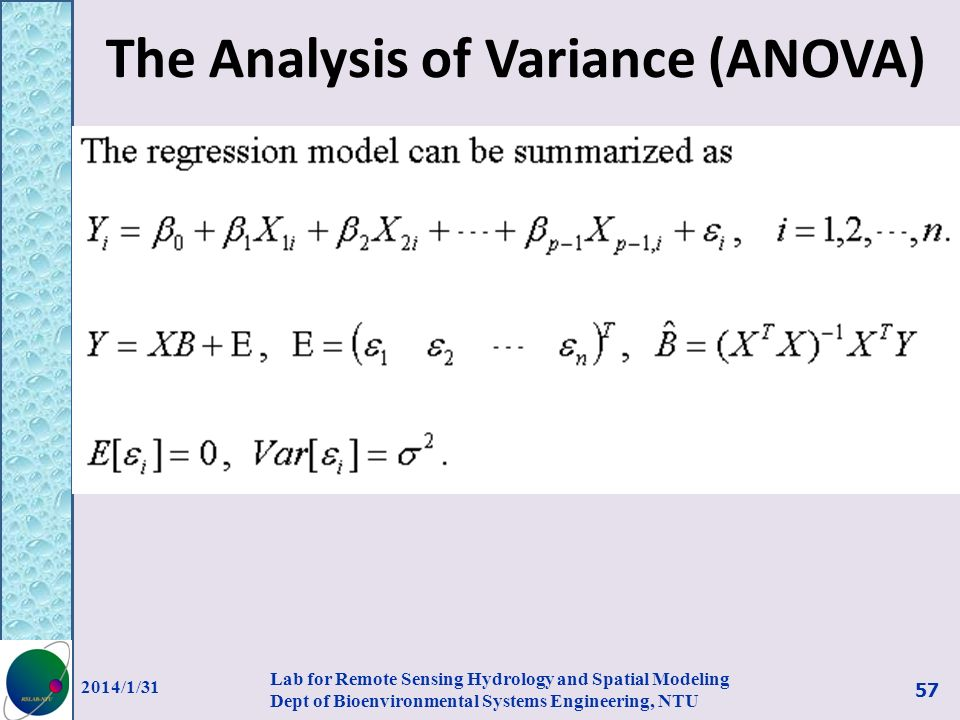 The Analysis of Variance (ANOVA)