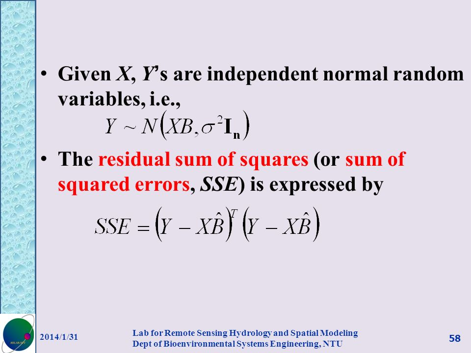 Given X, Y's are independent normal random variables, i.e.,