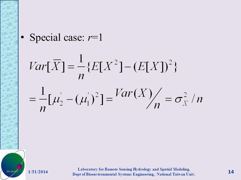 Special case: r=1 3/27/2017.