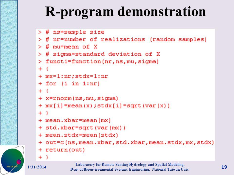 R-program demonstration