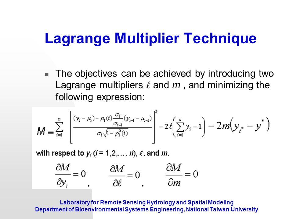 Lagrange Multiplier Technique