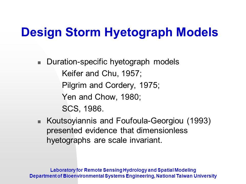 Design Storm Hyetograph Models
