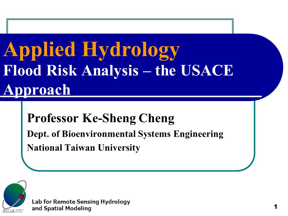 Flood Risk Analysis – the USACE Approach