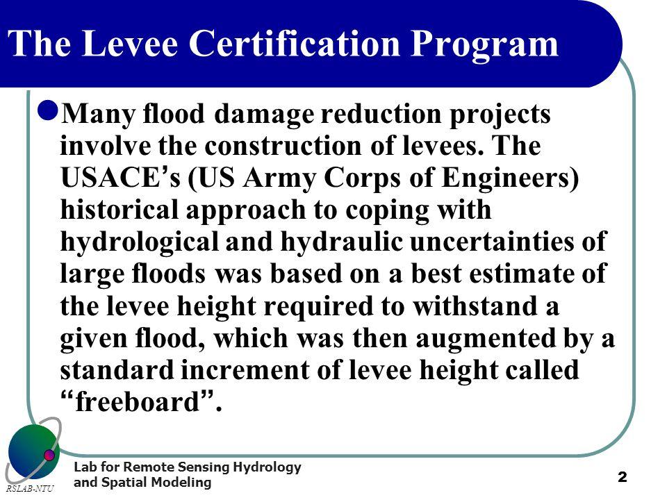 The Levee Certification Program