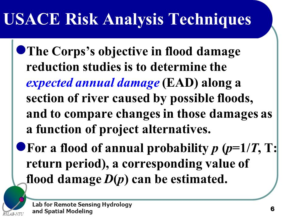 USACE Risk Analysis Techniques