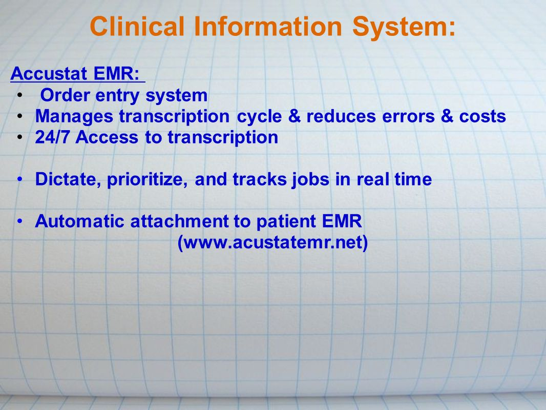 clinical information system Clinical information system presentation 2 cis definition/overview clinical information system—is a technology based system that is applied at the point of care and is.