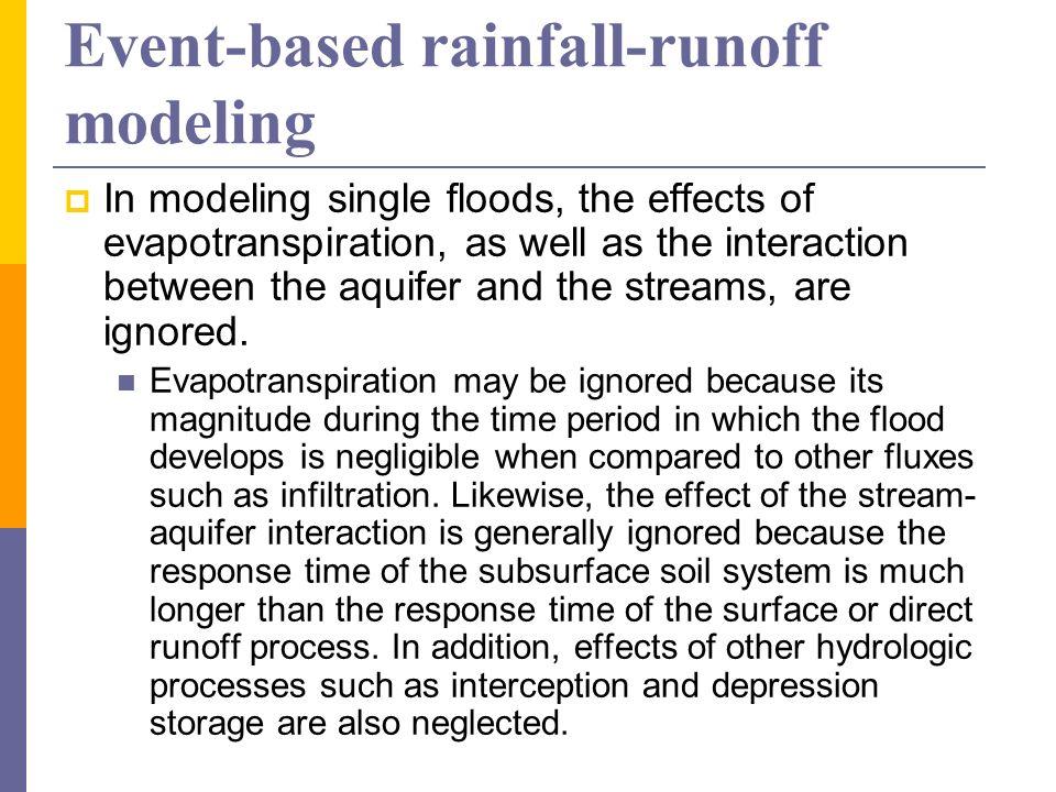 Event-based rainfall-runoff modeling