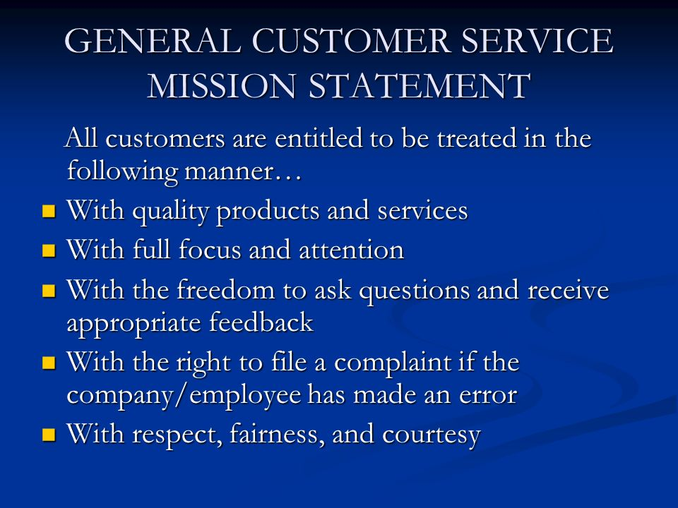 customer care problem statement Test your customer service knowledge and learn how to be a service ace by customer care is when you solve a problem for a customer you actually build.