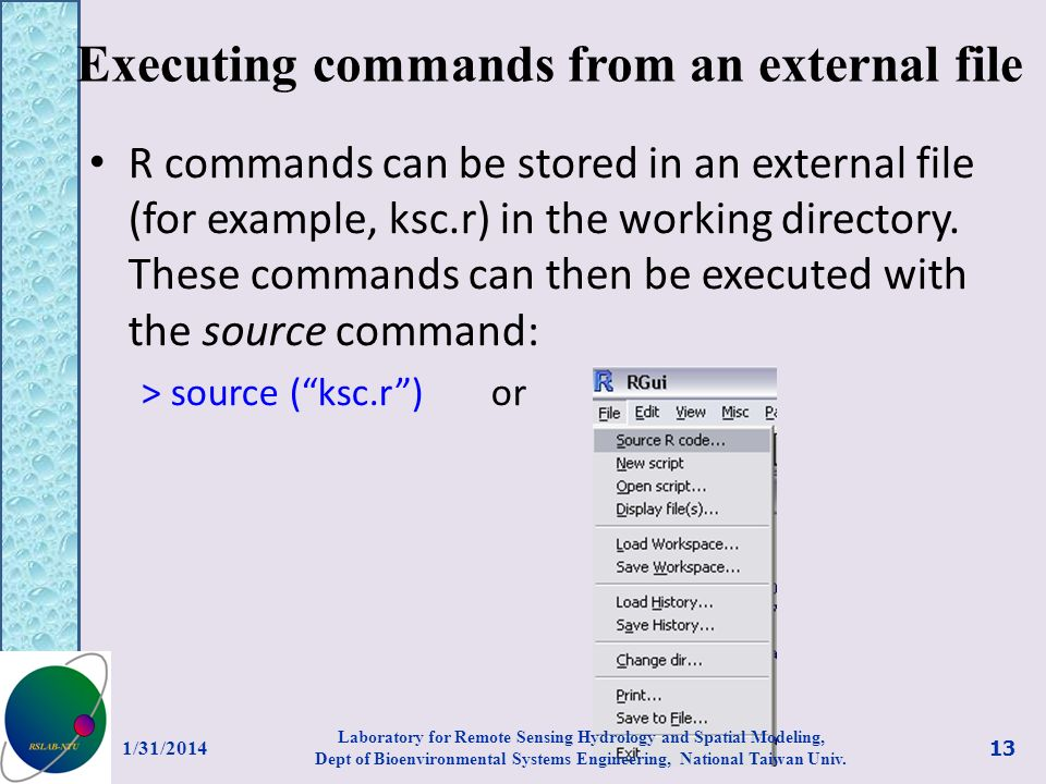 Executing commands from an external file