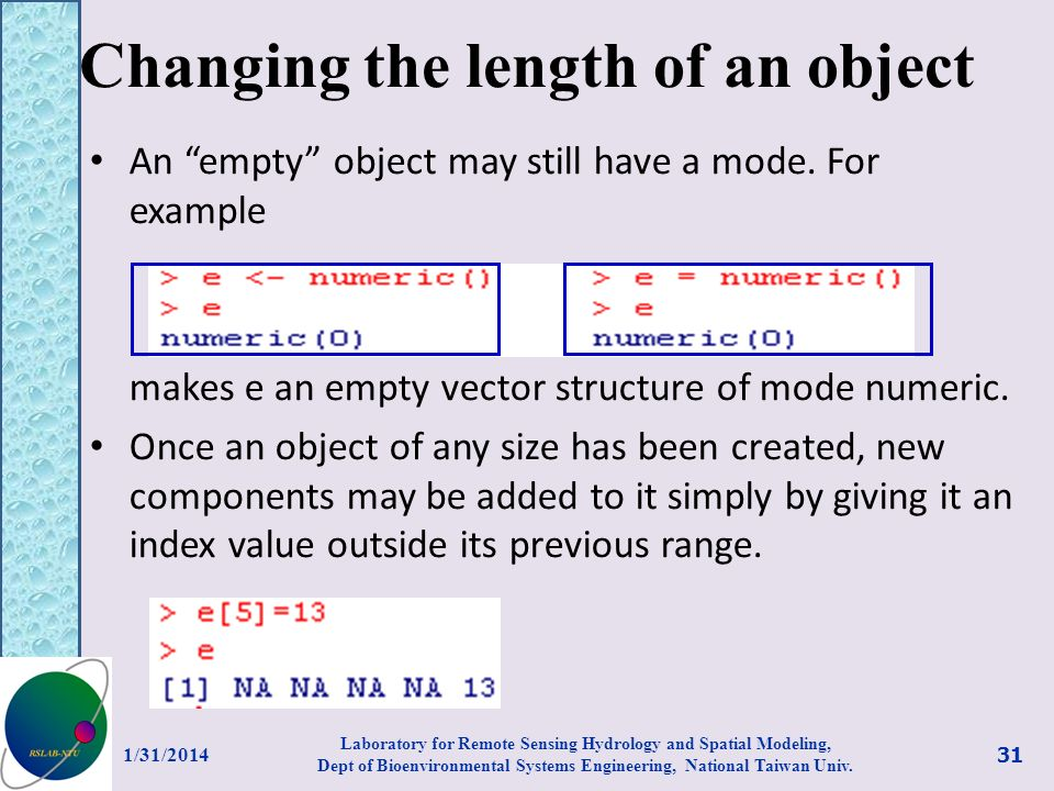 Changing the length of an object