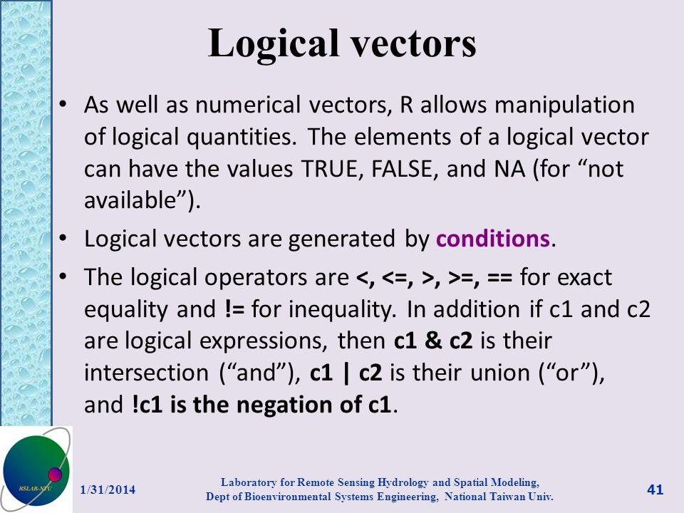 Logical vectors