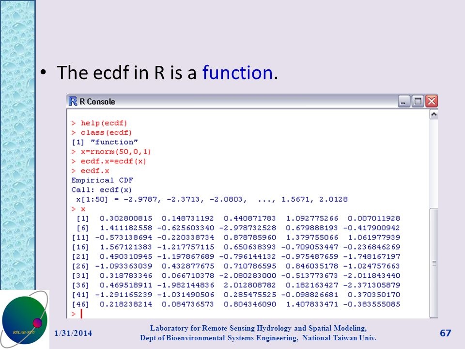 The ecdf in R is a function.