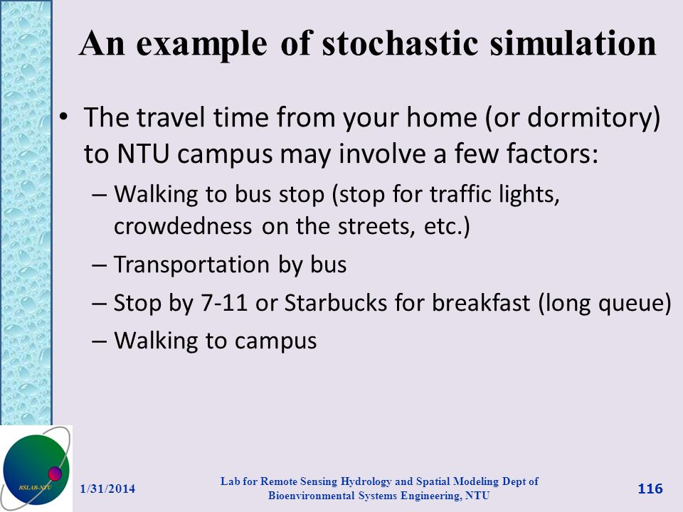 An example of stochastic simulation