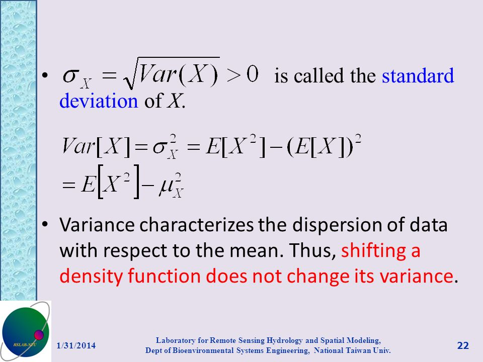 is called the standard deviation of X.