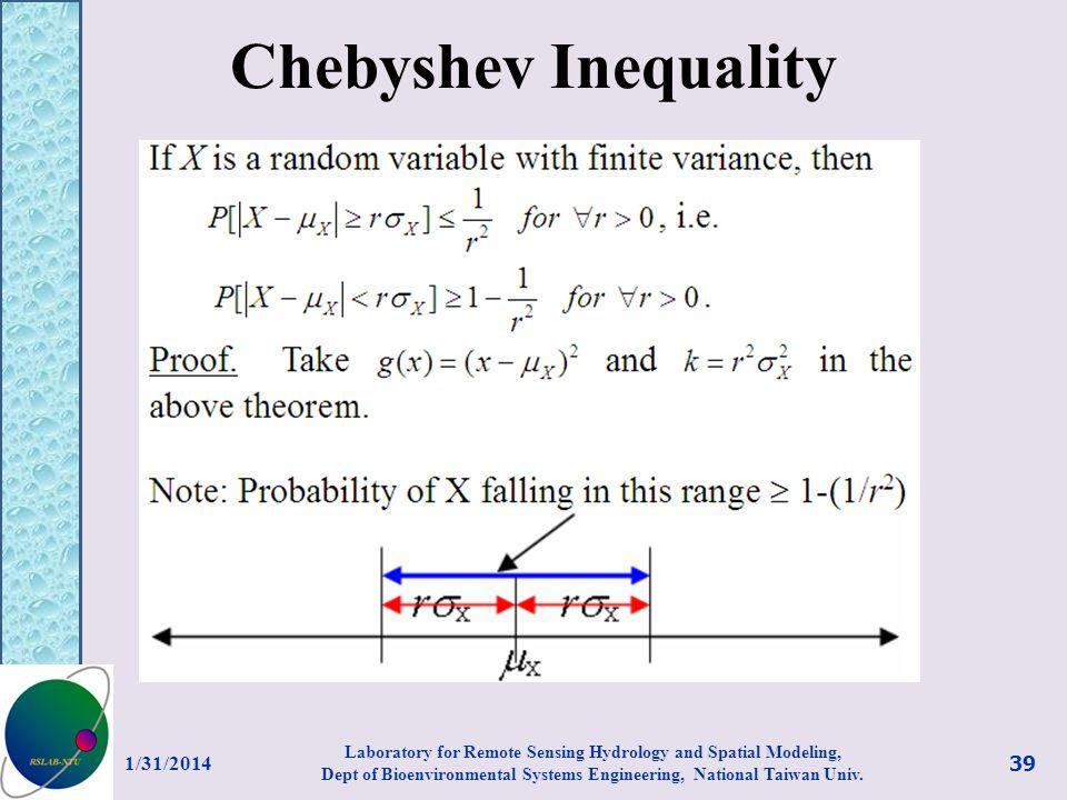 Chebyshev Inequality 3/27/2017