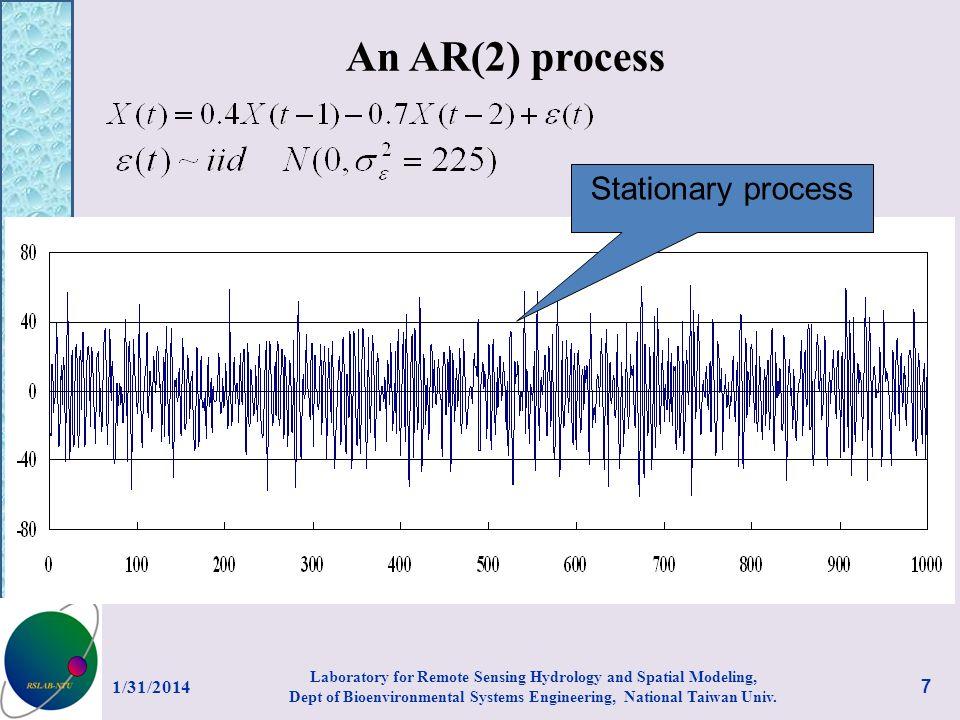 An AR(2) process Stationary process 3/27/2017