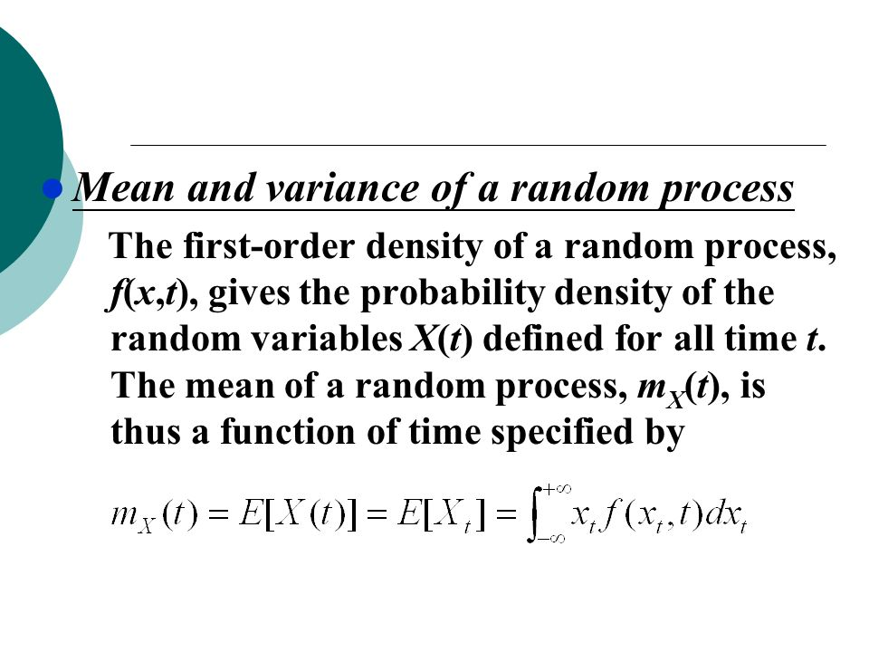 Mean and variance of a random process