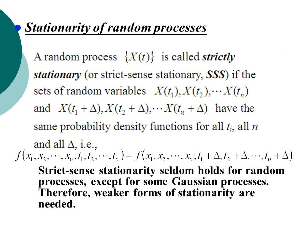 Stationarity of random processes