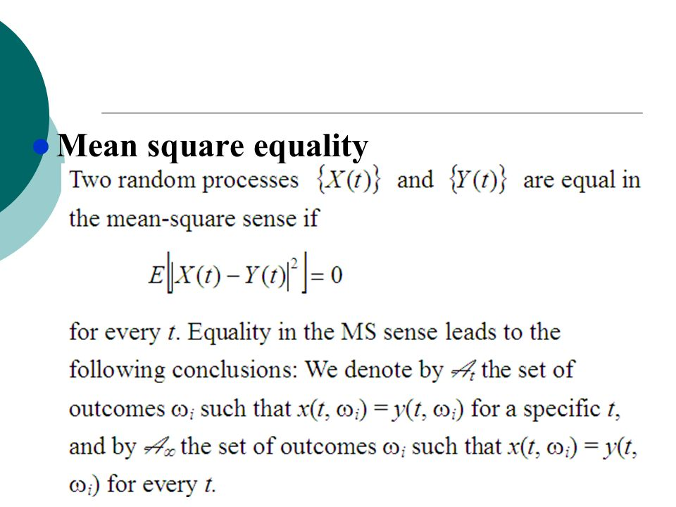 Mean square equality