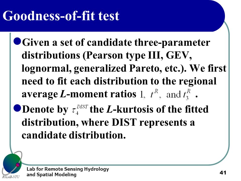 Goodness-of-fit test