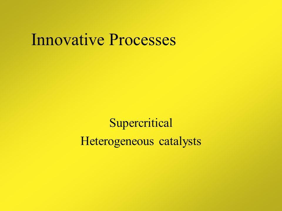 Supercritical Heterogeneous catalysts