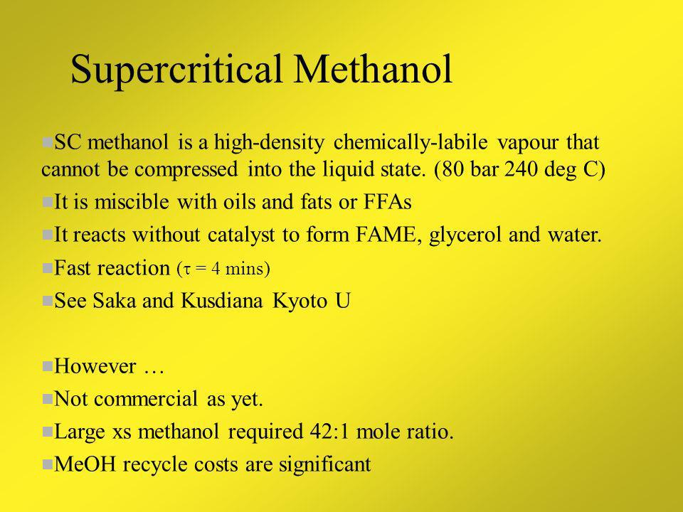Supercritical Methanol