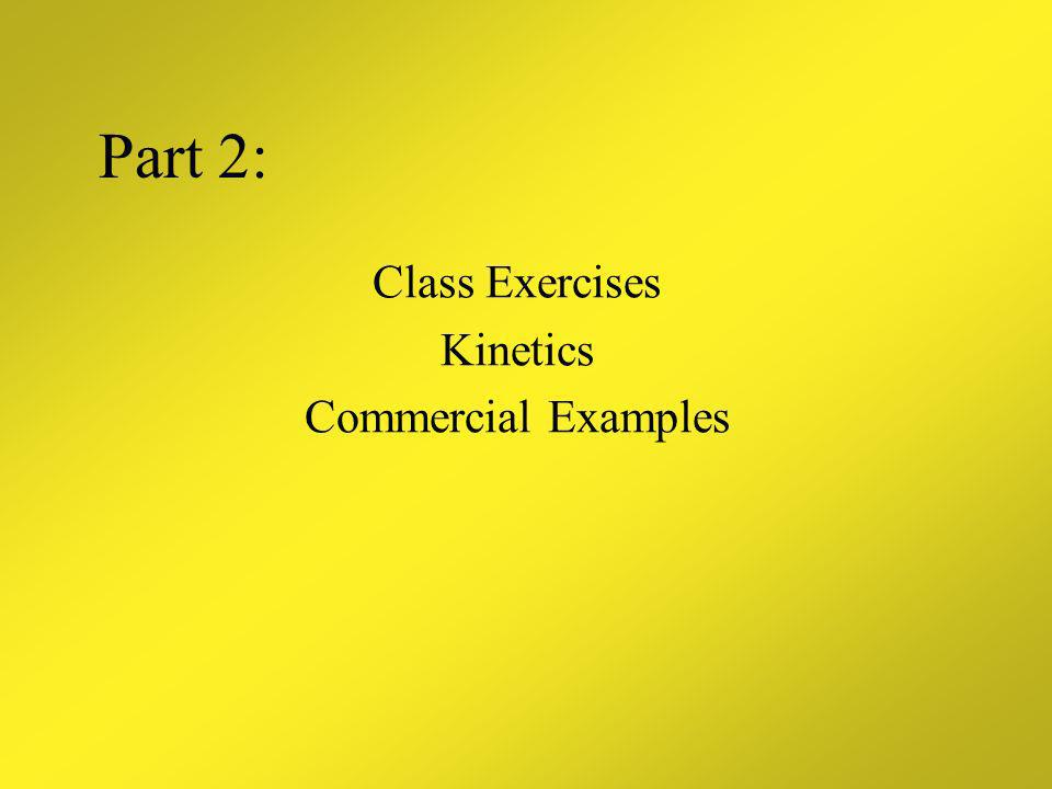 Class Exercises Kinetics Commercial Examples