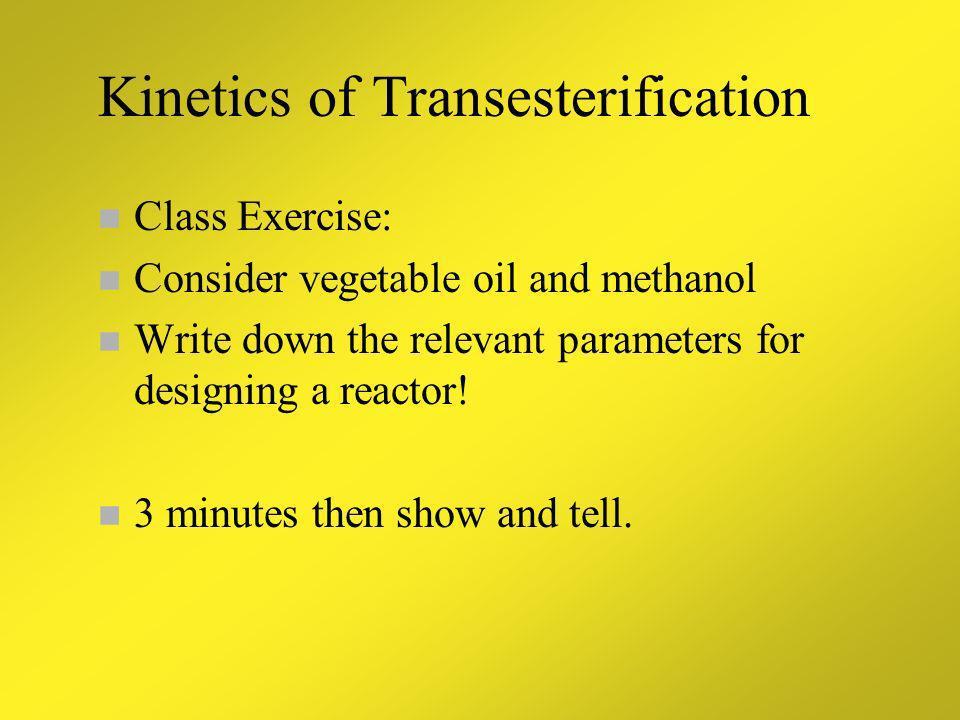 Kinetics of Transesterification