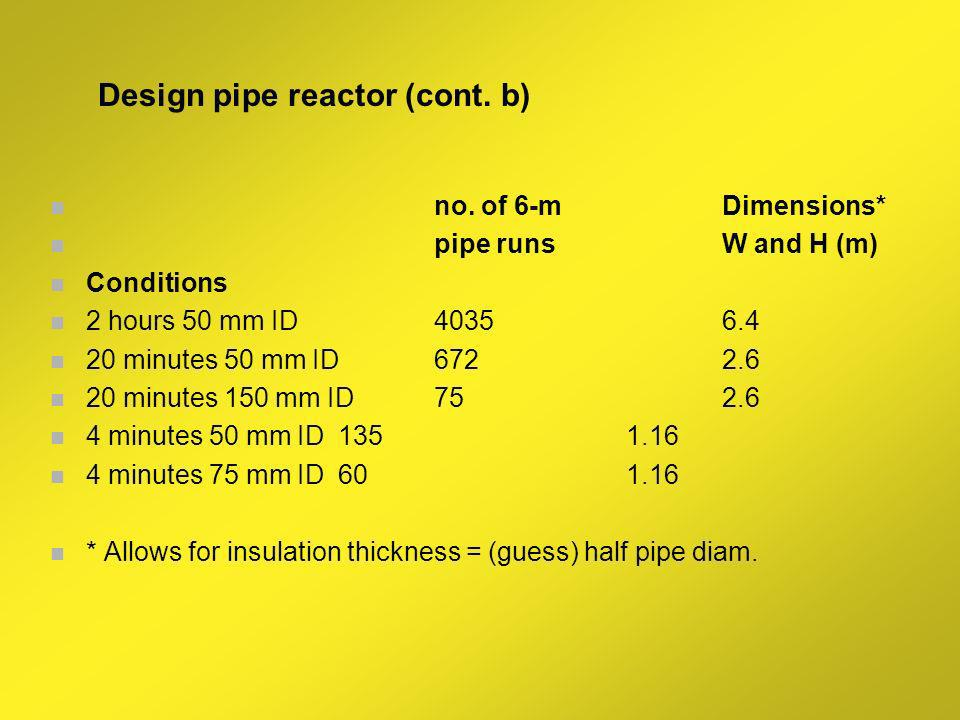 Design pipe reactor (cont. b)