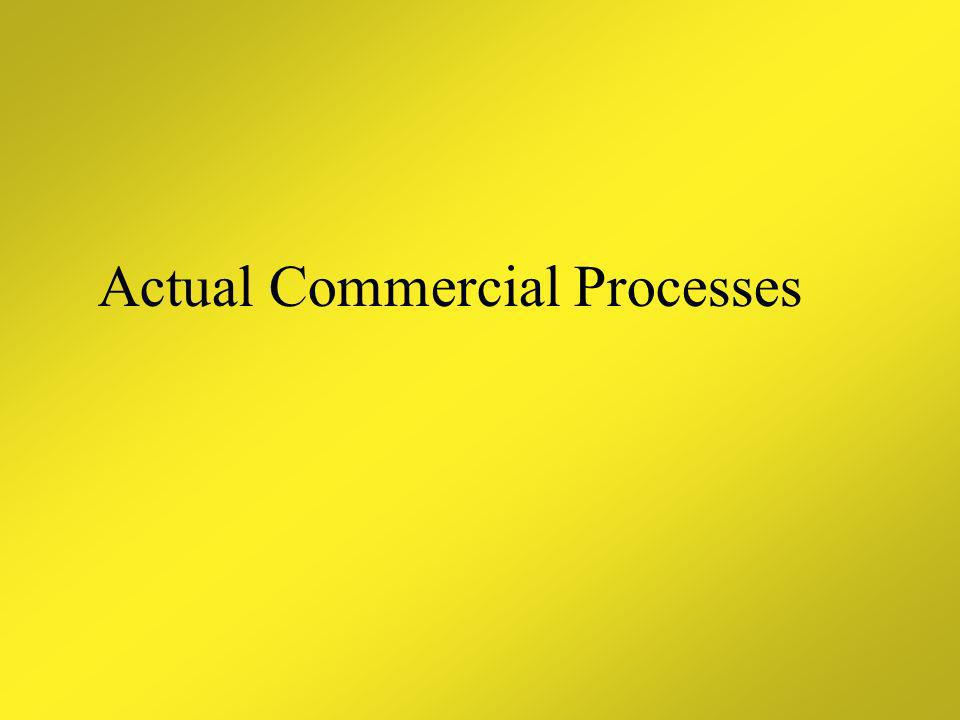 Actual Commercial Processes