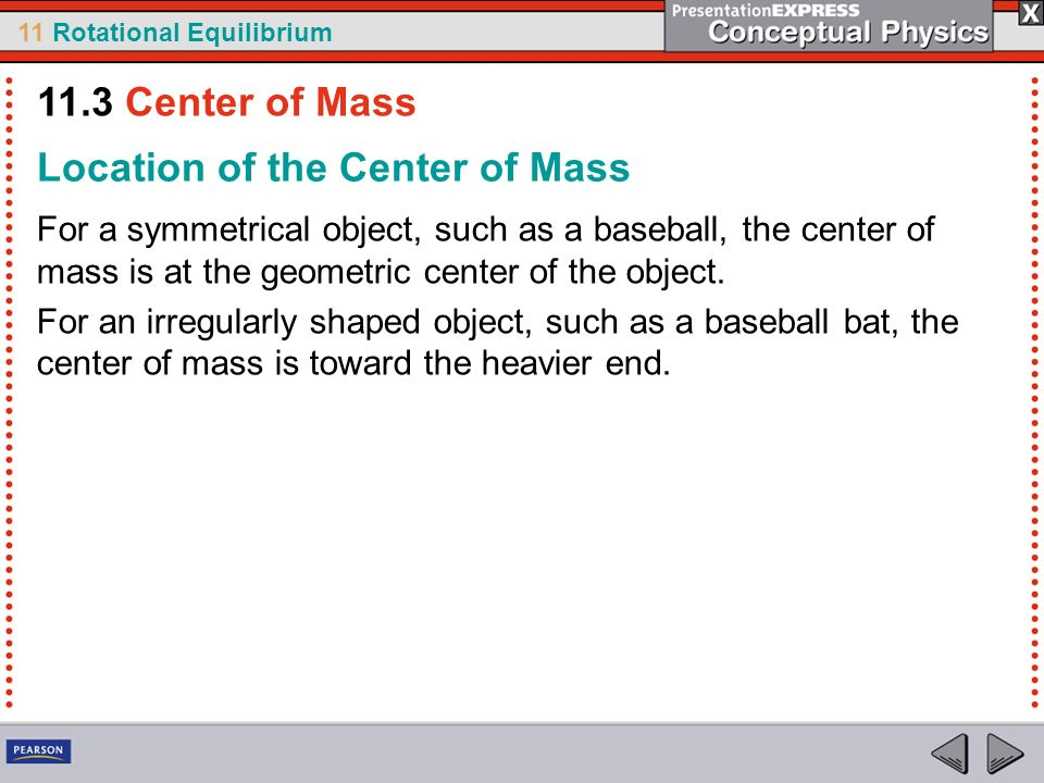 Location of the Center of Mass