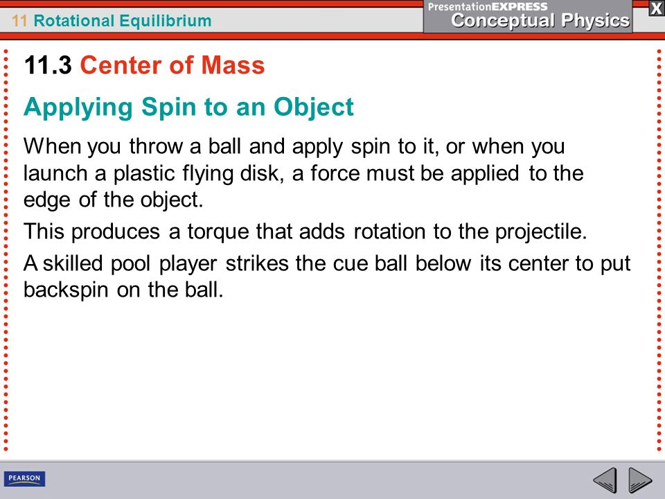 Applying Spin to an Object